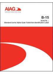 B-15 SCACTIL - Standard Carrier Alpha Code Trailer ID Label