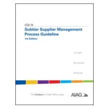 CQI-19 Subtier Supplier Management Process Guideline