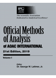 Official Methods of Analysis  of AOAC International 21st Edition: 2019 (3 Volume Set)