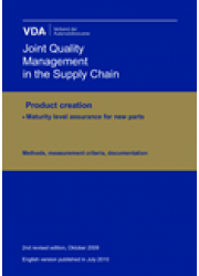 Product creation - Maturity Level Assurance for new Parts - Methods, measurement criteria, documentation