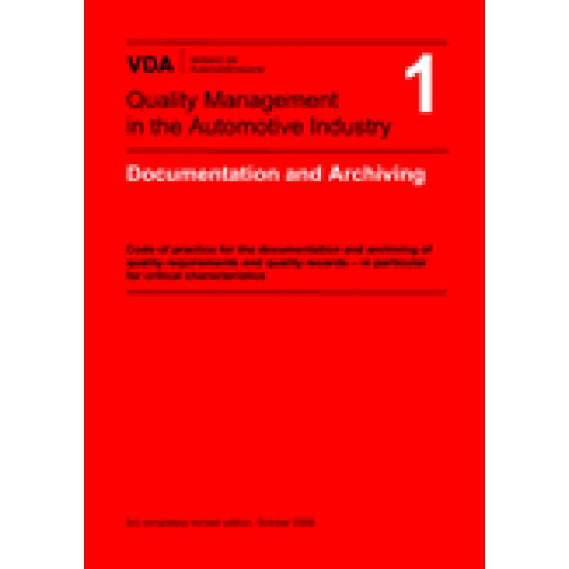 VDA 1 Documentation And Archiving