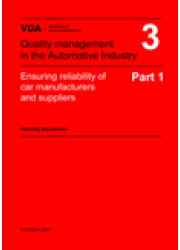 VDA  3 Part 1 Ensuring reliability of car manufacturers- Reliability Management / 3rd edition 2000